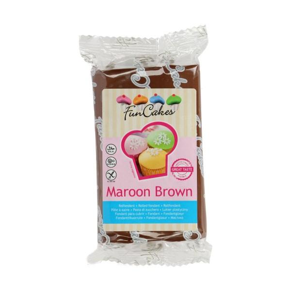 FuncakesFondant maroon brown 250 g