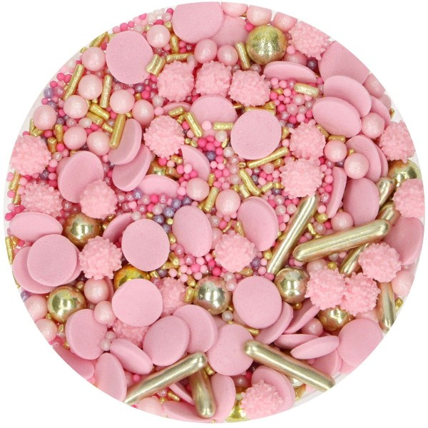 FunCakes Sprinkle Medley - Glamour Pink - 65g