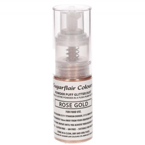 Sugarflair Pump Spray Glitter Dust - Rose Gold