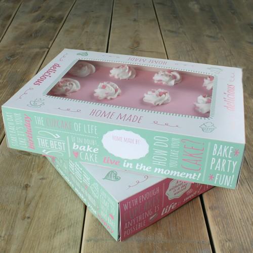 Tortenschachtel rechteckig 36 x 25 cm, 8 cm hoch - 2er Pack