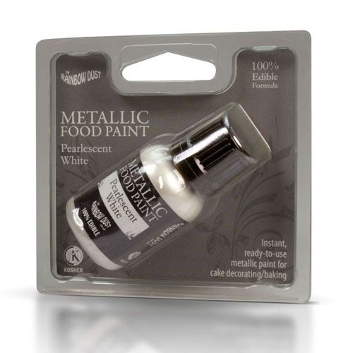 RD Metallic Food Paint Pearlescent White