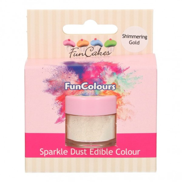 FunColours Glanzpuderfarbe - Shimmering Gold 100% essbar