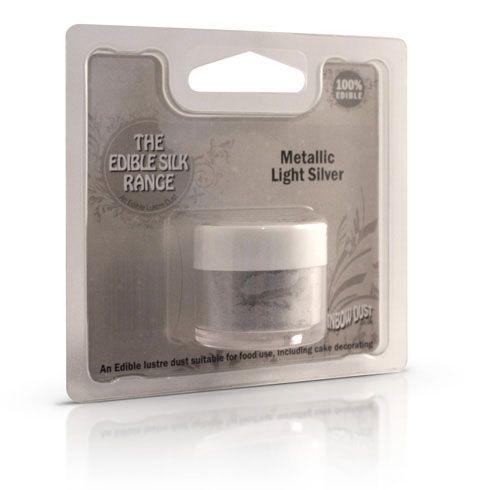 Rainbow Dust Edible Silk - hellsilber - light silver