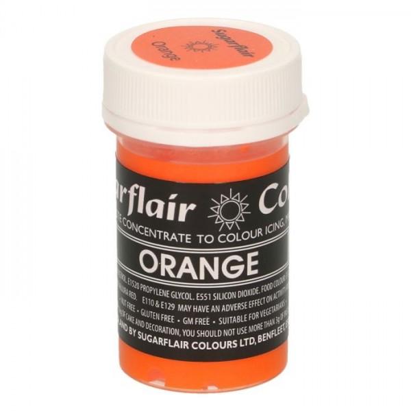 Sugarflair Speisefarben-Paste Orange 25g