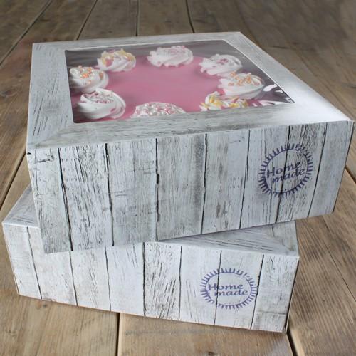 Tortenschachtel -Pure- 32 x 32 cm, 11,5 cm hoch - 2er Pack