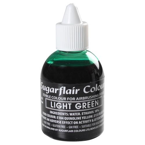 Sugarflair Airbrush Lebensmittelfarbe hellgrün 60 ml