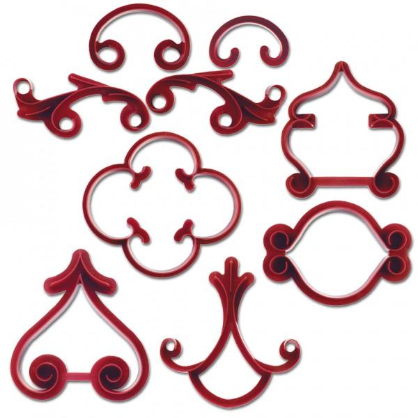 Arabeske ca. 4–9 cm Rot