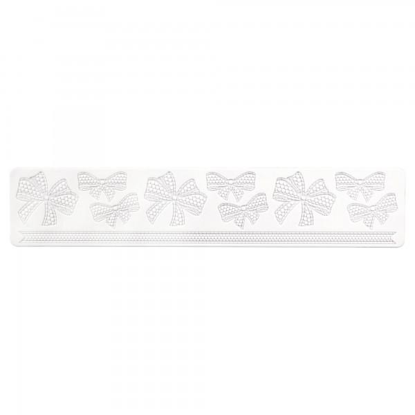 Schleife ca. 39,5 x 8 cm Weiß Silikon