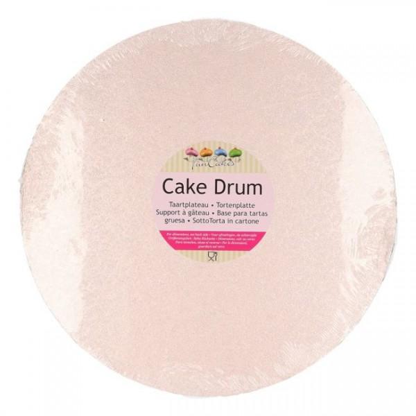 Cake Drum rund 30,5 cm - rosé gold