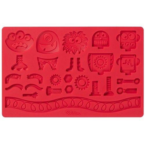 Wilton Fondant & Gum Paste Mold Robots and Monsters