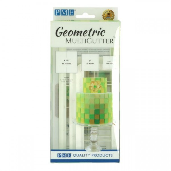PME Geometric Multicutter Quadrate 3-er Set