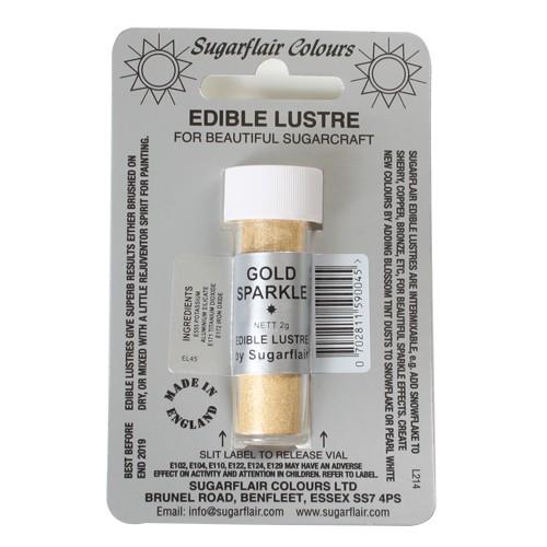 Glanz-Puderfarbe gold sparkle