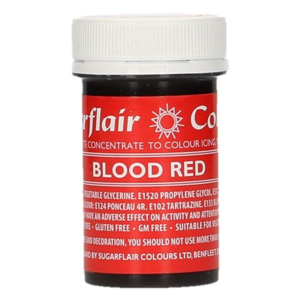 Sugarflair Speisefarben-Paste Blood Red - blutrot