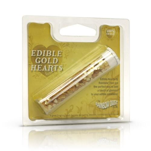 Glitter-Herzen gold- Edible gold hearts