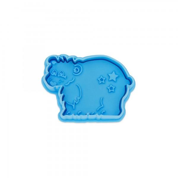 Prägeausstecher Eisbär mit Auswerfer