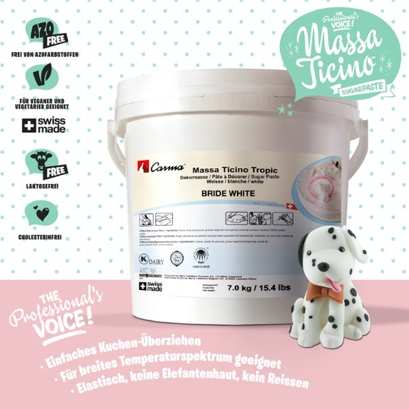 Massa Ticino Tropic weiß 2 x 7 kg Eimer + 1 kg weiß gratis!