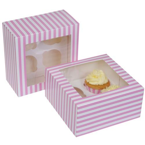 4er Cupcake Box - Circus pink - 2er Set
