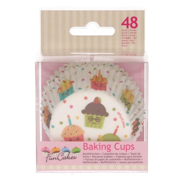 Papierbackförmchen 50 mm Cupcake-Party - 48 Stück - neu!