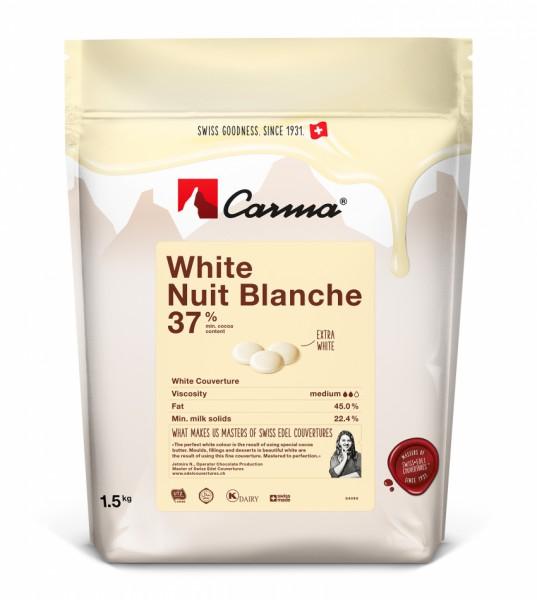 Carma Kuvertüre weiß - White Nuit Blanche 37% - 250g Beutel -NEU-