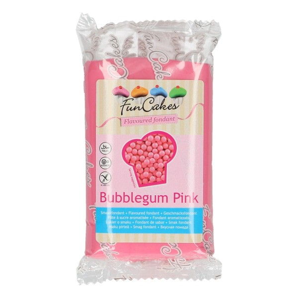 FunCakes Fondant mit Kaugummigeschmack pink 250 g - NEU -