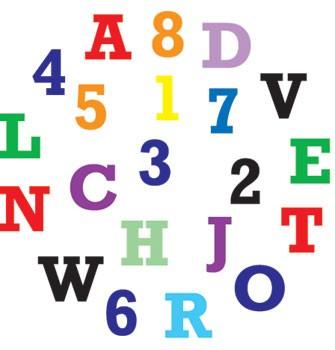 Alphabet und Ziffern