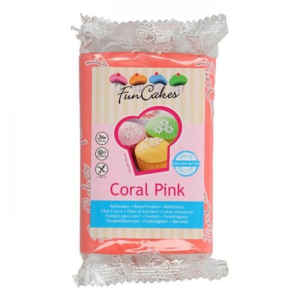 FunCakes Fondant Coral Pink 250 g