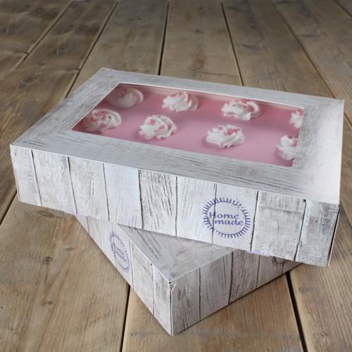 Tortenschachtel -Pure- rechteckig 36 x 25 cm, 8 cm hoch - 2er Pack