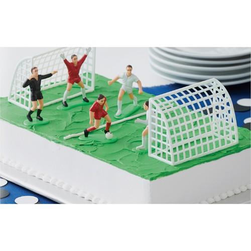 Fußball Deko-Set für Torten, 7-tlg.