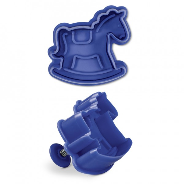 Schaukelpferd ca. 6 cm Blau