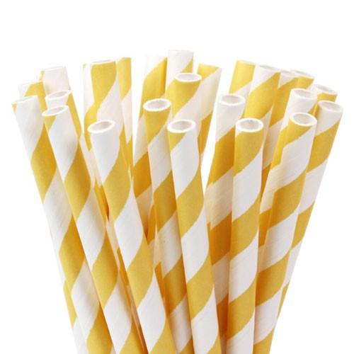 Lollipop Sticks gestreift gelb