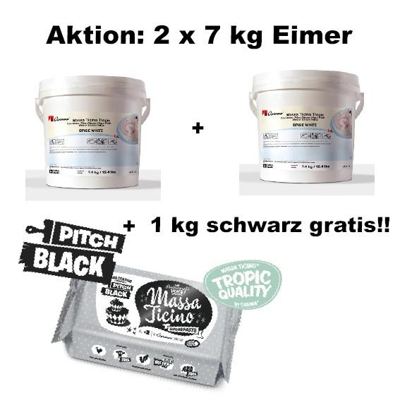 Massa Ticino Tropic weiß 2 x 7 kg Eimer + 1 kg schwarz gratis!