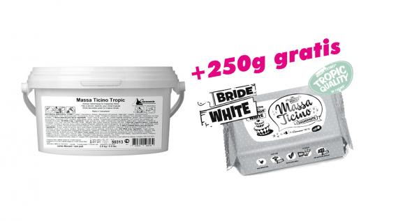 Massa Ticino Tropic weiß 2,5 kg Eimer + 1 x 250g braun/gelb/pink gratis!!