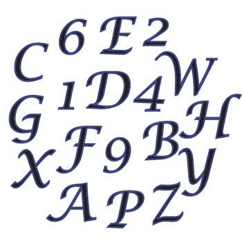 Alphabet und Ziffern - Script
