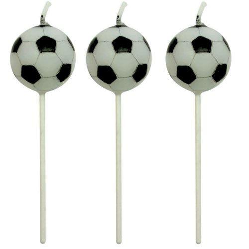 Fußball-Kerzen 4 Stück