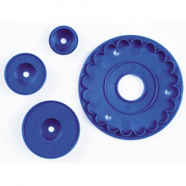 Rüschen / Volant ca. 8,5 cm Blau