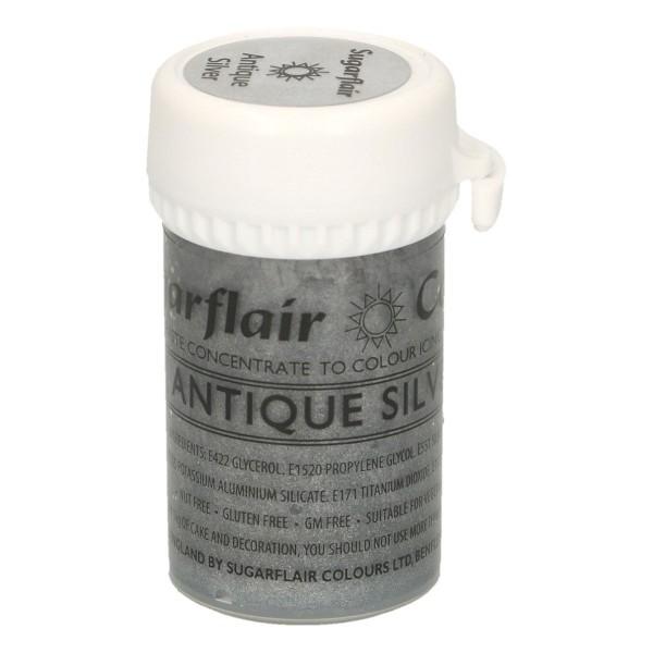 Sugarflair Speisefarben-Paste Antique Silver