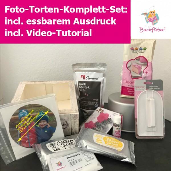 Foto-Torten-Komplett-Set incl. Anleitungs-Video