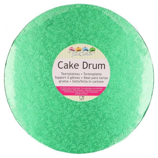 Cake Drum rund 30,5 cm - grün