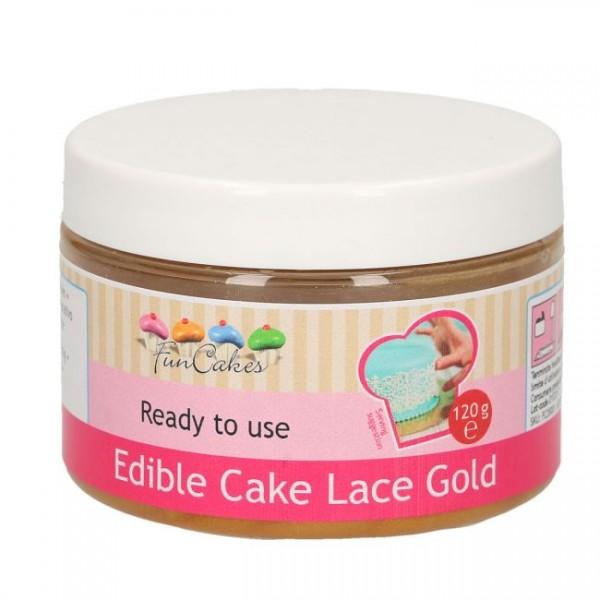 Essbare Spitze / Cake Lace GOLD gebrauchsfertig