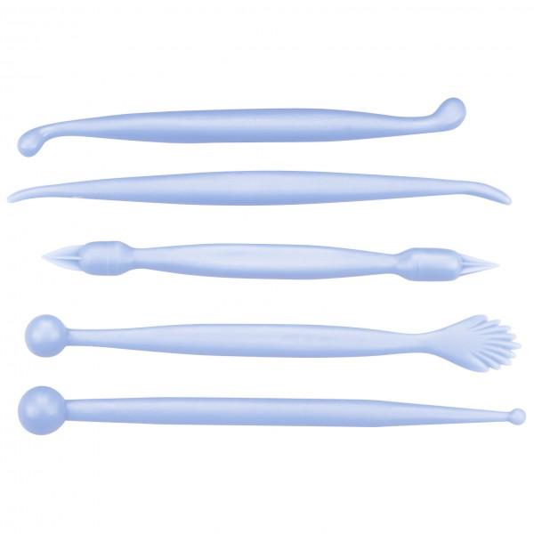 Modellierwerkzeuge ca. 13,5–15 cm Hellblau