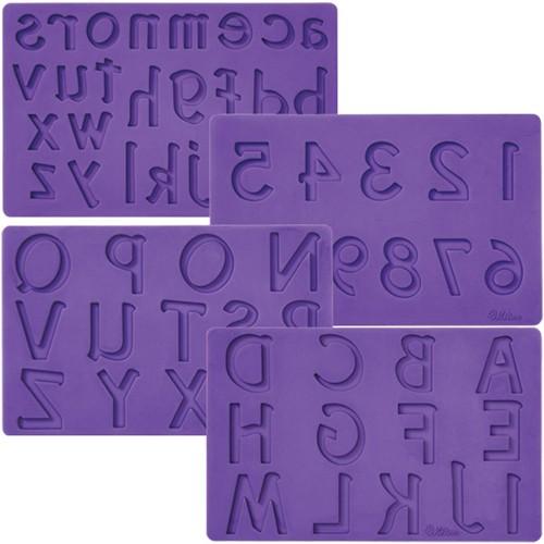Wilton Fondant & Gum Paste Mold Buchstaben und Zahlen