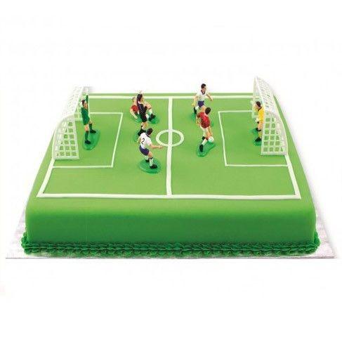 Fußball Deko-Set für Torten, 9-tlg.