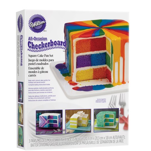 Wilton Backform Schachbrett quadratisch (Checkerboard Square Cake) 20 x 20 cm