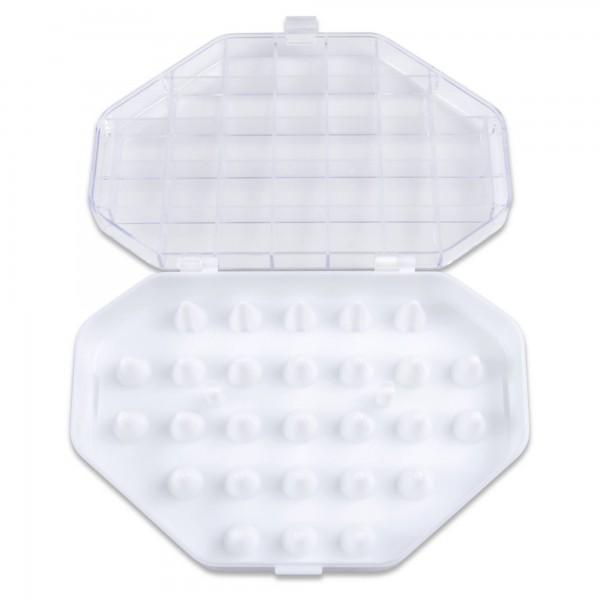 Tüllen-Aufbewahrungsbox für 26 kleine Tüllen Weiß