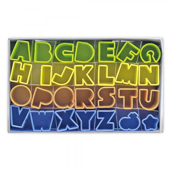 Ausstecher Alphabet ca. 2,5 cm Kunststoff
