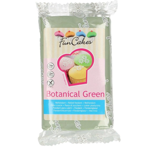 FunCakes Fondant botanical green 250 g - NEU -