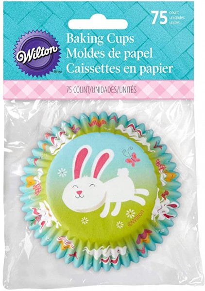 Papierbackförmchen 50 mm Osterhäschen - 75 Stück