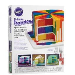 Wilton Backform Schachbrett quadratisch (Checkerboard Square Cake)